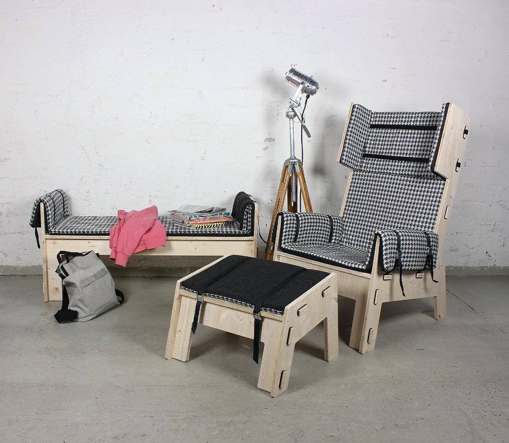 werkhaus polsterm bel gesteckt und fest gezurrt. Black Bedroom Furniture Sets. Home Design Ideas