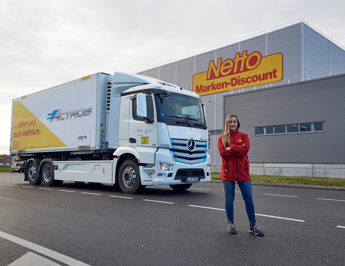 Netto startet Pilotprojekt mit E Lkw in Hamburg