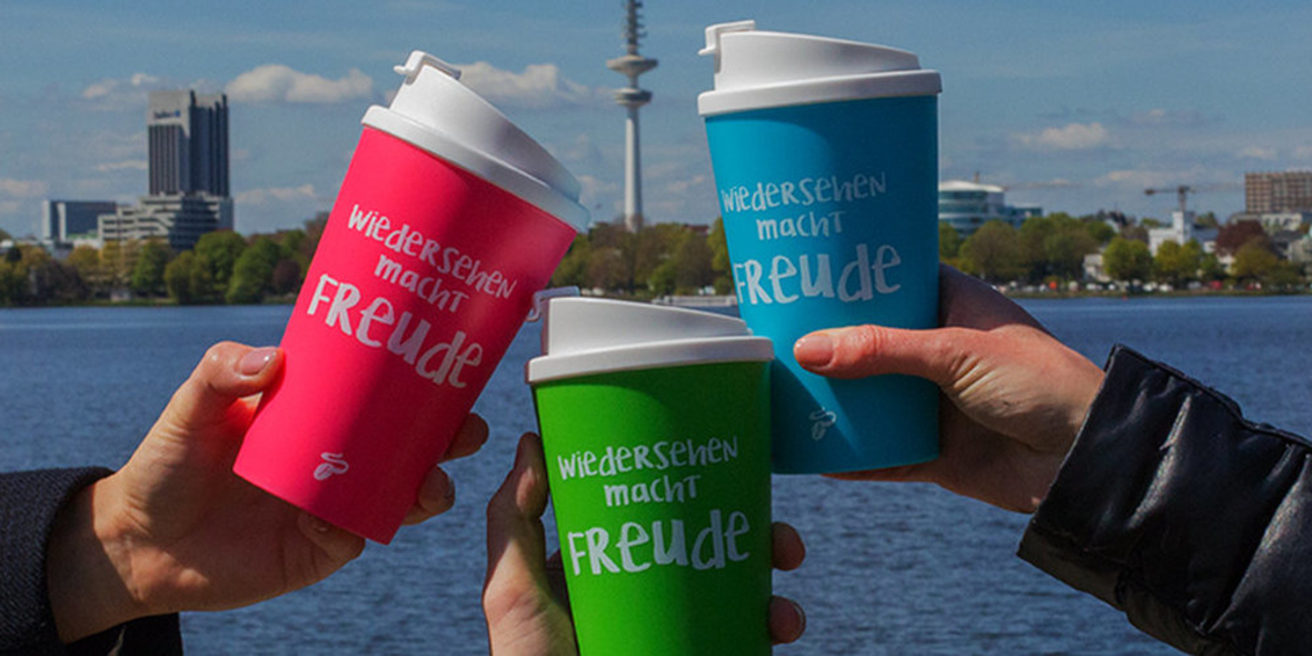 Coffee to go - and come back: Neue Mehrwegbecher von Tchibo