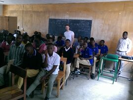 Unterricht in der Mbeya Trade School