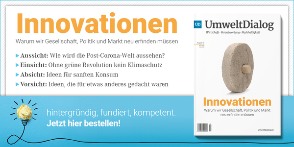 Banner UmweltDialog Magazin 13 Innovationen